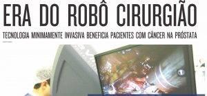 Matéria no jornal Hoje em Dia, sobre câncer de próstata e cirurgia robótica
